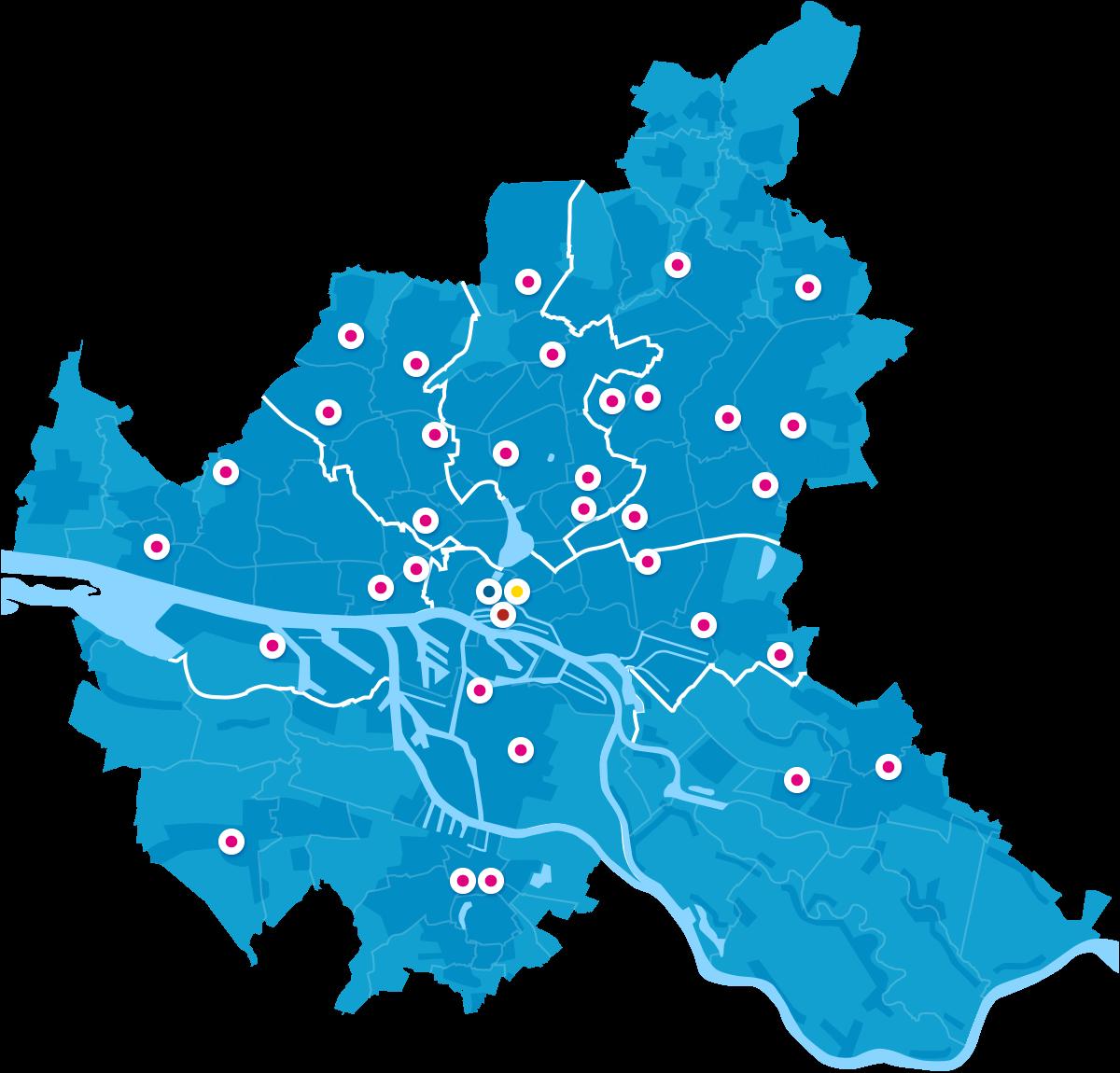 Standorte Bücherhallen Hamburg